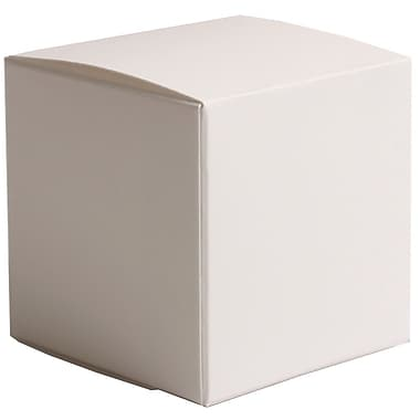 JAM Paper® Glossy Gift Boxes, Small, 2 x 2 x 2, White, 10/pack (238327087)