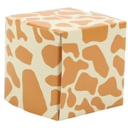 JAM Paper® Glossy Gift Boxes, Small, 2 x 2 x 2, White Giraffe,10/pack (238326980a)