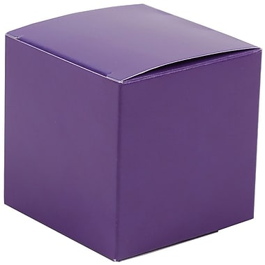 JAM Paper® Glossy Gift Boxes, Small, 2 x 2 x 2, Purple, 10/pack (238327083)