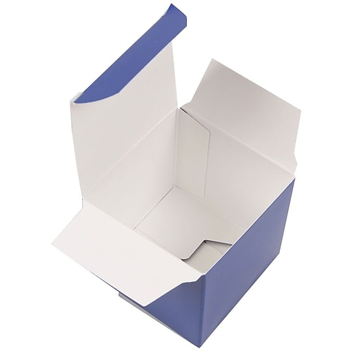 JAM Paper® Glossy Gift Boxes, Small, 2 x 2 x 2, Royal Blue Glossy, 10/Pack (238327093)