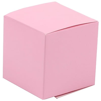 JAM Paper® Glossy Gift Boxes, Small, 2 x 2 x 2, Pink, 10/pack (238326970a)