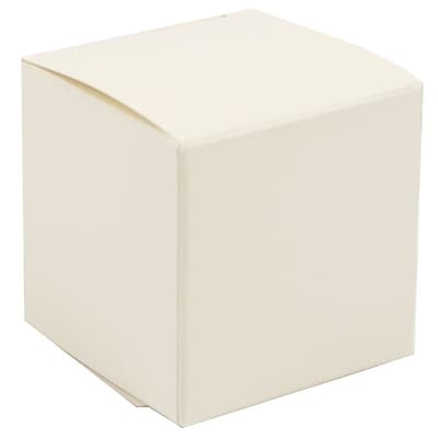 JAM Paper® Glossy Gift Boxes, Small, 2 x 2 x 2, Ivory, 10/pack (238326984a)