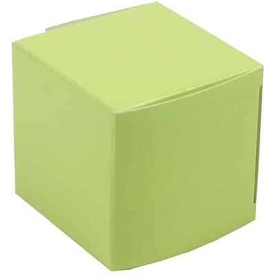 JAM Paper Glossy Gift Boxes, Small, 2 x 2 x 2, Lime Green, 10/pack (238327079) 2633201