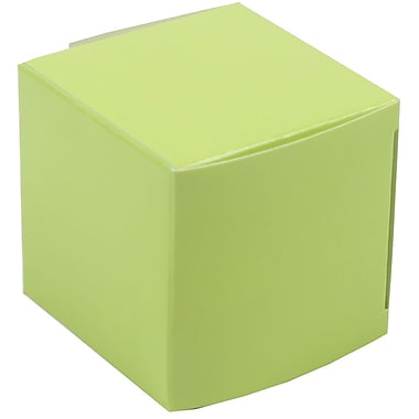 JAM Paper® Glossy Gift Boxes, Small, 2 x 2 x 2, Lime Green, 10/pack (238327079)