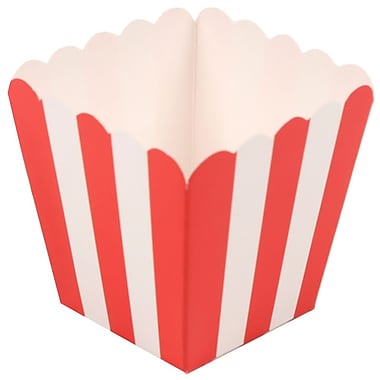 JAM Paper® Popcorn Boxes, Red, 10/pack (347027072)