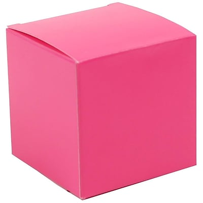 JAM Paper® Glossy Gift Boxes, Small, 2 x 2 x 2, Fuchsia, 10/pack (238326982a)