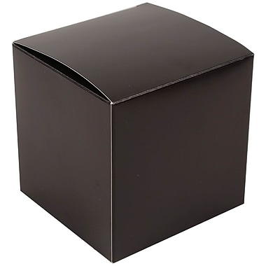 JAM Paper® Glossy Gift Boxes, Small, 2 x 2 x 2, Black, 10/pack (238326972)