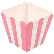 JAM Paper® Popcorn Boxes, 3 x 3, Pink Striped, 10/Pack (347027077)