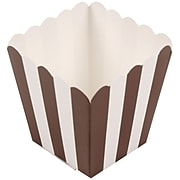 JAM Paper® Popcorn Boxes, 3 x 3, Brown Striped, 10/Pack (347027075)
