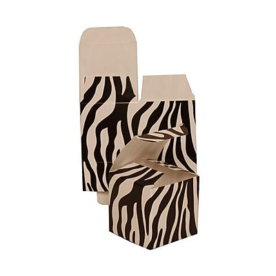 JAM Paper® Glossy Gift Boxes, Small, 2 x 2 x 2, Black Zebra, 10/pack (2238019088b)