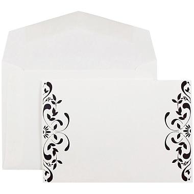 JAM Paper® Wedding Invitations, Small, 4 7/8 x 3 3/8, White Floral Square Cards & White Envelopes, 100/pack (52659610)