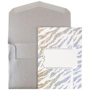 JAM Paper® Wedding Invitations, Large, 5.5 x 7.5, White Envelope White Silver Zebra Stripe, 50/pack (5261055si)