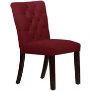 Skyline Furniture Mfg Tufted Chair in Velvet Berry (68-6VLVBR)