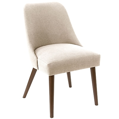 Skyline Furniture Rounded Back Accent Chair in Linen Talc (84-6LNNTLC)