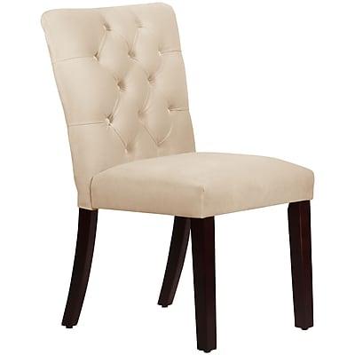 Skyline Furniture Mfg Tufted Chair in Velvet Buckwheat (68-6VLVBCK)