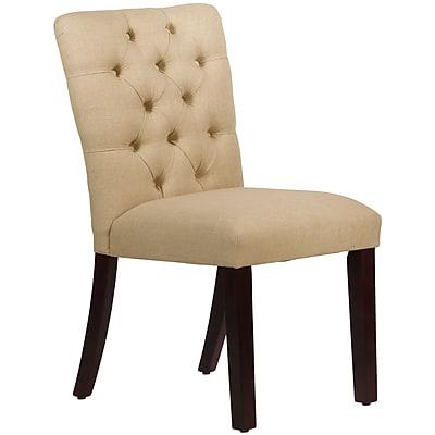Skyline Furniture Mfg Tufted Chair in Linen Sandstone (68-6LNNSND)