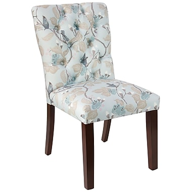 Skyline Furniture Mfg Tufted Chair in Chinois Blue (68-6CHNBLOGA)