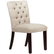 Skyline Furniture Mfg Tufted Chair in Linen Talc (68-6LNNTLC)