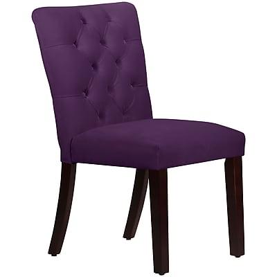 Skyline Furniture Mfg Tufted Chair in Velvet Aubergine (68-6VLVABR)