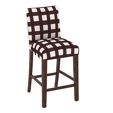 Skyline Furniture Chair in Buffalo Square Holiday Red (63-8BFLSQRHLDRD)
