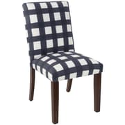 Skyline Furniture Mfg Chair in Buffalo Square Blue (63-6BFLSQRBLOGA)