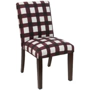 Skyline Furniture Mfg Chair in Buffalo Square Holiday Red (63-6BFLSQRHLDRD)