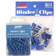 JAM Paper® Colored Office Desk Supplies Bundle, Blue, Paper Clips & Binder Clips, 1 Pack of Each, 2/pack (218334bu)