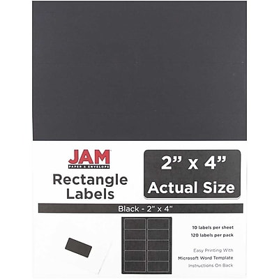 JAM Paper® Mailing Address Labels, 2 x 4, Black, 120/pack (302224394)