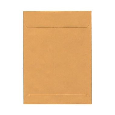 JAM Paper® 7.5 x 10.5 Open End Envelopes, Brown Kraft, 100/pack (29215)