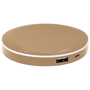 PowerNow Compact Portable Illuminated Makeup Mirror with 3000mAH Battery Charger. Excellent for Women, Girls and Men (70181)