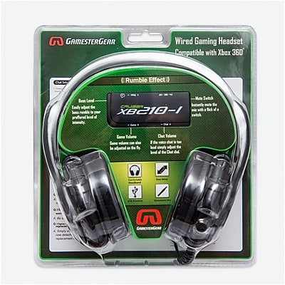 GamesterGear Cruiser XB210-I 2.1 Amplified Stereo Gaming Headset w/mic Black