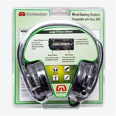 GamesterGear Cruiser XB200-I 2.0 Stereo Gaming Headset Headphone w/mic Black