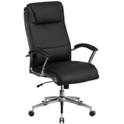 Flash Furniture High Back Designer Black Leather Executive Swivel Office Chair with Padded Arms (GO2192BK)