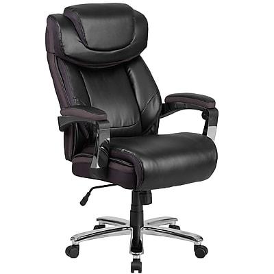 HERCULES Series 500 lb. Capacity Big & Tall Black Leather Executive Swivel Office Chair (GO2223BK)