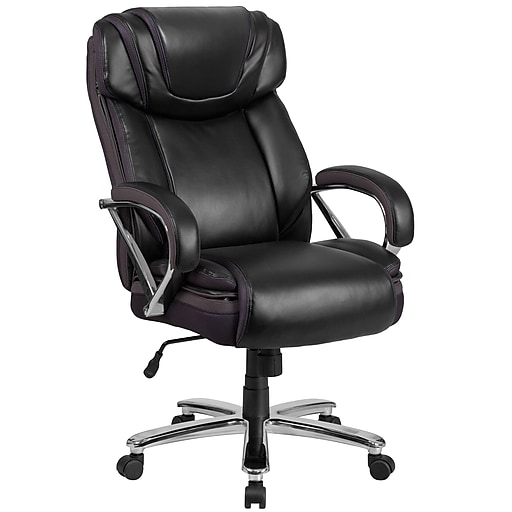 Peachy Hercules Series 500 Lb Capacity Big Tall Black Leather Executive Swivel Office Chair With Extra Wide Seat Interior Design Ideas Inesswwsoteloinfo