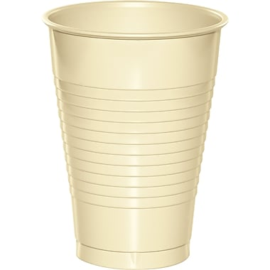 Touch of Color Ivory 12 oz Plastic Cups, 20 pk (28161071)