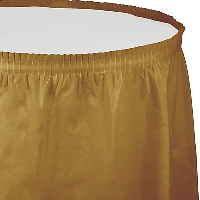 Touch of Color Glittering Gold Plastic Tableskirt (010024)