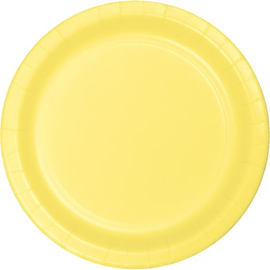 Touch of Color Mimosa Yellow Paper Plates, 24 pk (47102B)