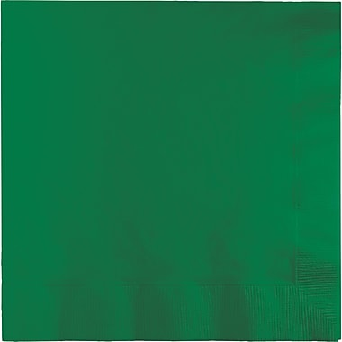 Touch of Color Emerald Green Napkins, 6.5 x 6.5, 50 pk