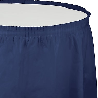 Touch of Color Navy Blue Plastic Tableskirt (010036)