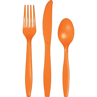 Touch of Color Sunkissed Orange Assorted Plastic Cutlery, 24 pk (010612)
