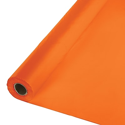 Touch of Color Sunkissed Orange Plastic Banquet Roll (013021)