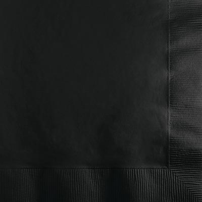 Touch of Color Black Beverage Napkins, 200 pk