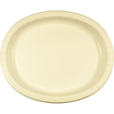 Touch of Color Ivory Oval Plates, 8 pk (433264)