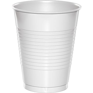 Touch of Color White 16 oz Plastic Cups, 50 pk (28000081B)