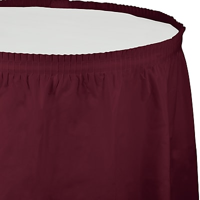 Touch of Color Burgundy Red Plastic Tableskirt (743122)