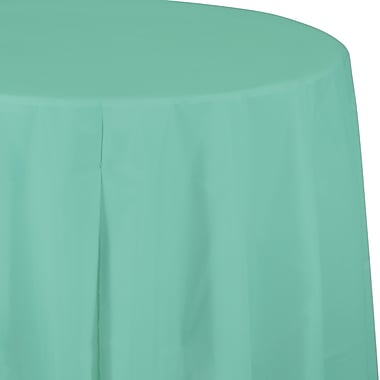 Touch of Color Fresh Mint Green Round Plastic Tablecloth (318893)