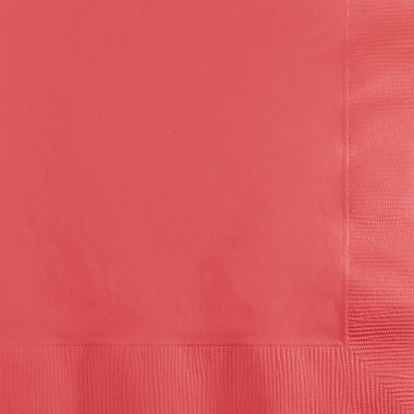 Touch of Color Coral Beverage Napkins, 50 pk
