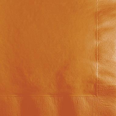 Touch of Color Pumpkin Spice Orange Beverage Napkins, 50 pk