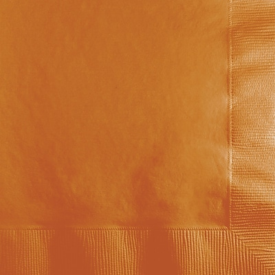 Touch of Color Pumpkin Spice Orange Beverage Napkins, 50 pk
